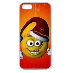 Cute Funny Christmas Smiley With Christmas Tree Apple Seamless iPhone 5 Case (Clear)