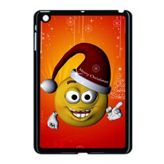Cute Funny Christmas Smiley With Christmas Tree Apple iPad Mini Case (Black)