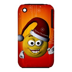 Cute Funny Christmas Smiley With Christmas Tree Apple iPhone 3G/3GS Hardshell Case (PC+Silicone)