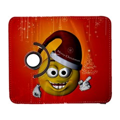 Cute Funny Christmas Smiley With Christmas Tree Samsung Galaxy S  III Flip 360 Case