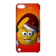 Cute Funny Christmas Smiley With Christmas Tree Apple iPod Touch 5 Hardshell Case with Stand