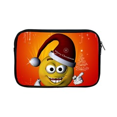 Cute Funny Christmas Smiley With Christmas Tree Apple iPad Mini Zipper Cases