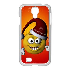 Cute Funny Christmas Smiley With Christmas Tree Samsung GALAXY S4 I9500/ I9505 Case (White)