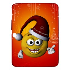 Cute Funny Christmas Smiley With Christmas Tree Samsung Galaxy Tab 3 (10.1 ) P5200 Hardshell Case