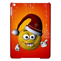 Cute Funny Christmas Smiley With Christmas Tree iPad Air Hardshell Cases