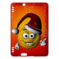 Cute Funny Christmas Smiley With Christmas Tree Kindle Fire HDX Hardshell Case