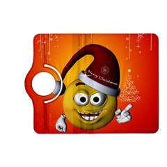 Cute Funny Christmas Smiley With Christmas Tree Kindle Fire Hd (2013) Flip 360 Case