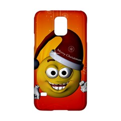 Cute Funny Christmas Smiley With Christmas Tree Samsung Galaxy S5 Hardshell Case