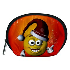 Cute Funny Christmas Smiley With Christmas Tree Accessory Pouches (Medium)