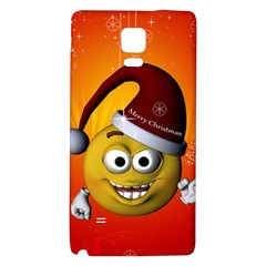 Cute Funny Christmas Smiley With Christmas Tree Galaxy Note 4 Back Case