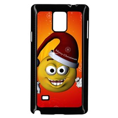 Cute Funny Christmas Smiley With Christmas Tree Samsung Galaxy Note 4 Case (Black)