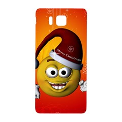 Cute Funny Christmas Smiley With Christmas Tree Samsung Galaxy Alpha Hardshell Back Case