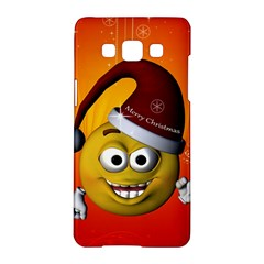 Cute Funny Christmas Smiley With Christmas Tree Samsung Galaxy A5 Hardshell Case