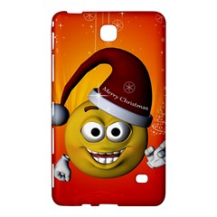 Cute Funny Christmas Smiley With Christmas Tree Samsung Galaxy Tab 4 (7 ) Hardshell Case