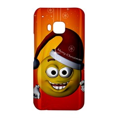 Cute Funny Christmas Smiley With Christmas Tree HTC One M9 Hardshell Case