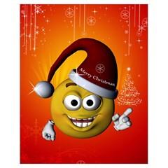 Cute Funny Christmas Smiley With Christmas Tree Drawstring Bag (small)