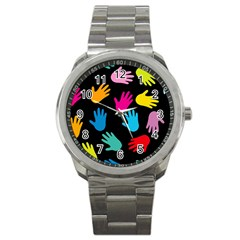 All Over Hands Sport Metal Watches