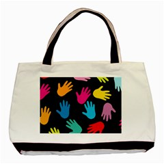 All Over Hands Basic Tote Bag