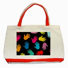All Over Hands Classic Tote Bag (Red)