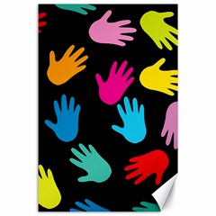 All Over Hands Canvas 24  x 36