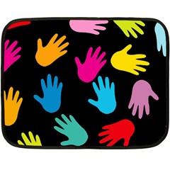 All Over Hands Fleece Blanket (Mini)