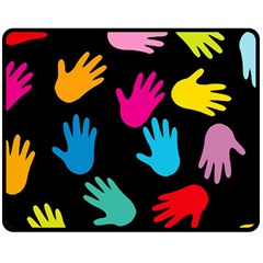 All Over Hands Fleece Blanket (medium)