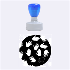 All Over Hands Rubber Round Stamps (medium)