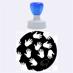 All Over Hands Rubber Round Stamps (Large)