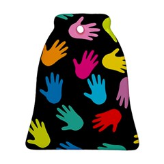 All Over Hands Bell Ornament (2 Sides)