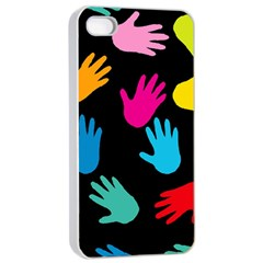 All Over Hands Apple iPhone 4/4s Seamless Case (White)