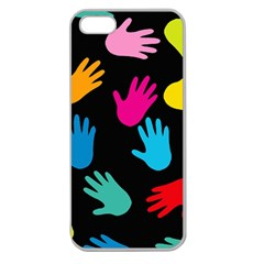 All Over Hands Apple Seamless iPhone 5 Case (Clear)