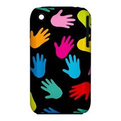 All Over Hands Apple iPhone 3G/3GS Hardshell Case (PC+Silicone)