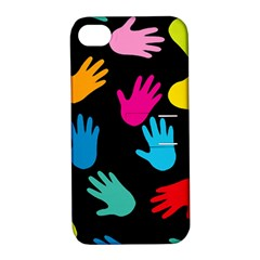 All Over Hands Apple iPhone 4/4S Hardshell Case with Stand