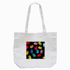 All Over Hands Tote Bag (White)