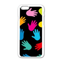 All Over Hands Apple iPhone 6/6S White Enamel Case