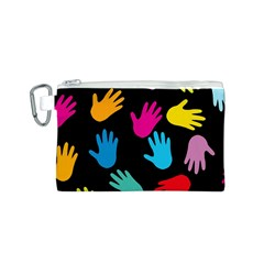 All Over Hands Canvas Cosmetic Bag (S)