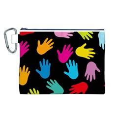 All Over Hands Canvas Cosmetic Bag (L)