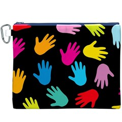 All Over Hands Canvas Cosmetic Bag (XXXL)