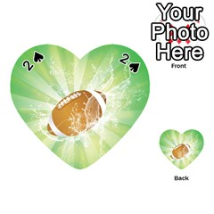 American Football  Playing Cards 54 (heart)