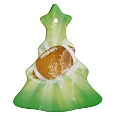 American Football  Christmas Tree Ornament (2 Sides)