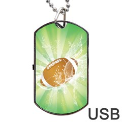 American Football  Dog Tag Usb Flash (two Sides)