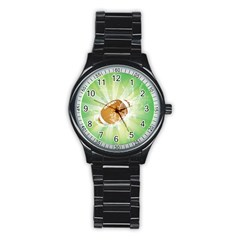 American Football  Stainless Steel Round Watches