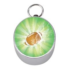 American Football  Mini Silver Compasses