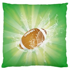 American Football  Large Flano Cushion Cases (one Side)