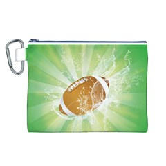 American Football  Canvas Cosmetic Bag (L)