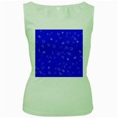 Sweetie Blue Women s Green Tank Tops