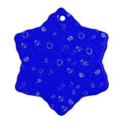 Sweetie Blue Snowflake Ornament (2-Side)