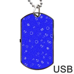Sweetie Blue Dog Tag USB Flash (One Side)