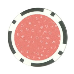 Sweetie Peach Poker Chip Card Guards (10 pack)