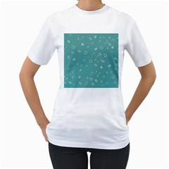 Sweetie Soft Teal Women s T Shirt (white) (two Sided)